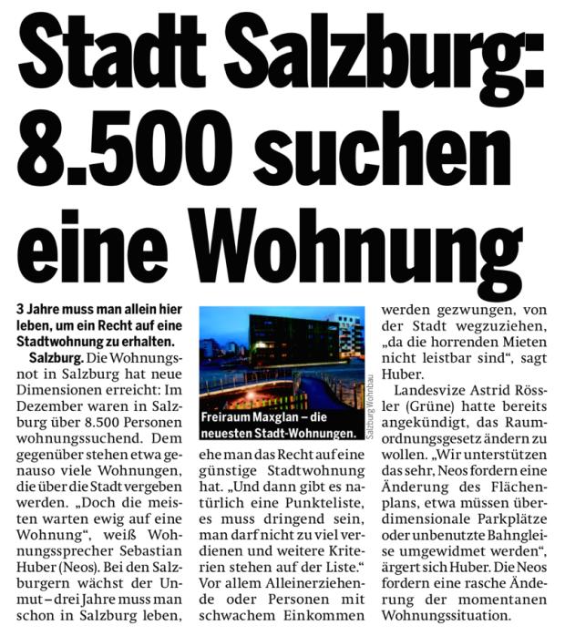 Wohnungsnot Salzburg